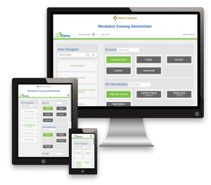 321Forms HR Onboarding Software Mobile, Tablet, and Desktop Screen View
